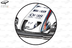 Williams FW40 new nose, British GP