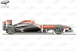 Virgin MVR-02 side view, Brazilian GP