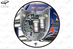 Red Bull RB5 steering arm
