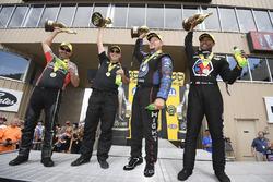 Pro Stock Bike winner Eddie Krawiec, Pro Stock winner Drew Skillman, Funny Car winner Robert Hight, Top Fuel winner Antron Brown