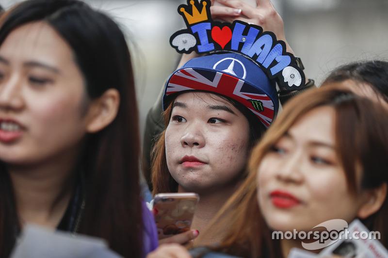 A fan of Lewis Hamilton, Mercedes AMG