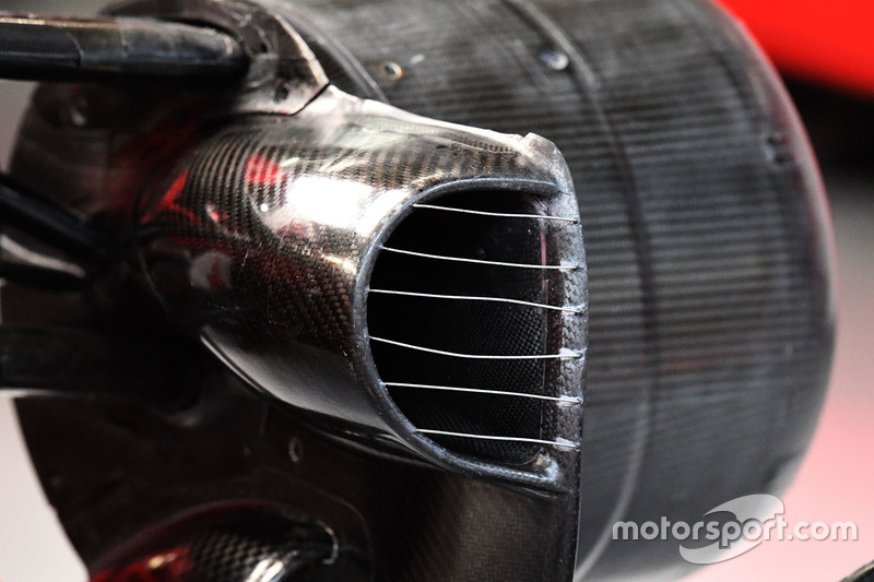 Ferrari SF70H front brake duct detail