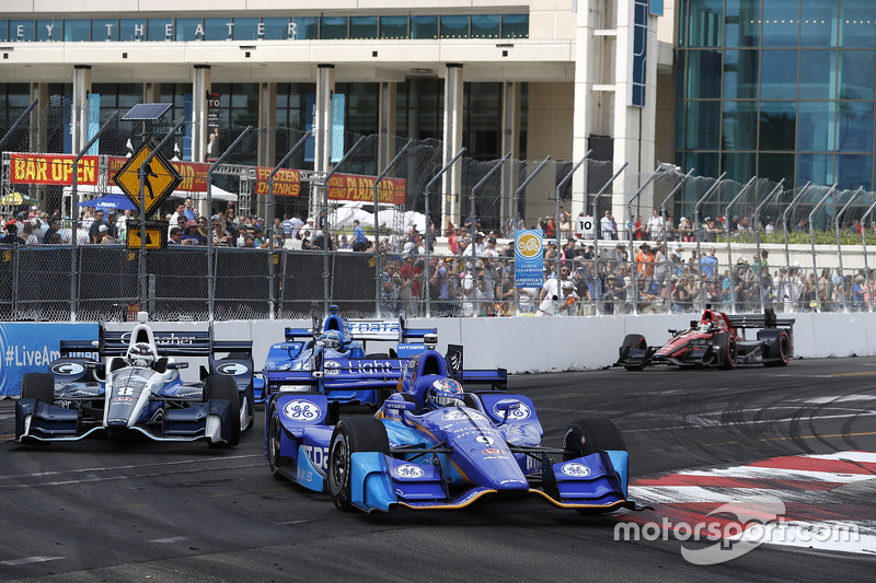Max Chilton, Chip Ganassi Racing Honda, Scott Dixon, Chip Ganassi Racing Honda, Tony Kanaan, Chip Ganassi Racing Honda