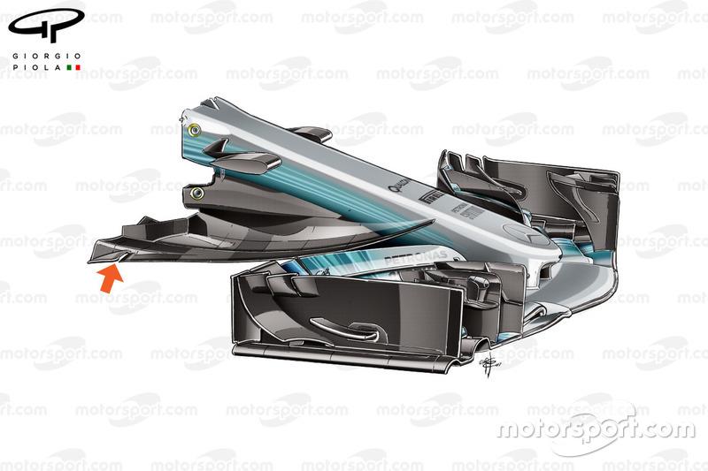 Nouveau nez de la Mercedes W08, Grand Prix d'Autriche