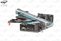Mercedes W08 new nose, Austrian GP