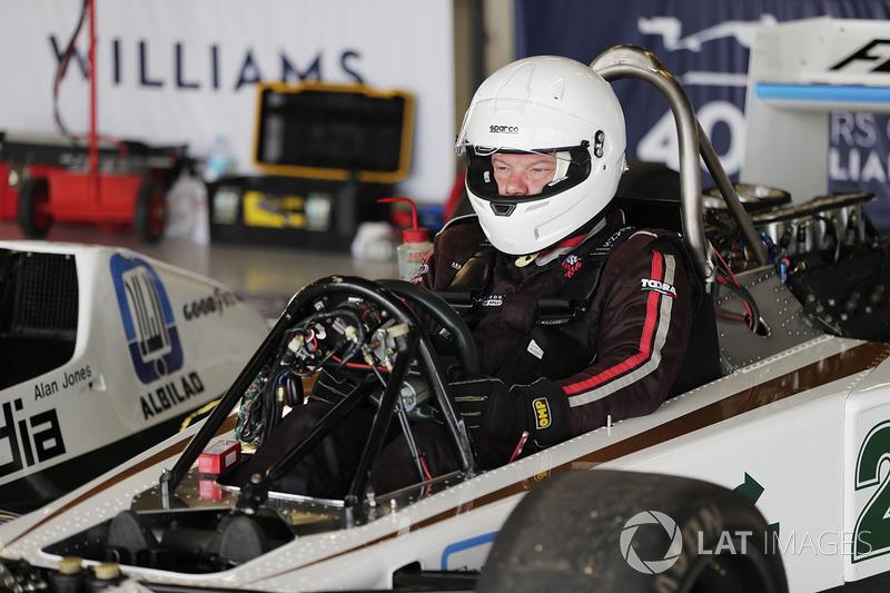 Une Williams FW06 de 1978 en démonstration