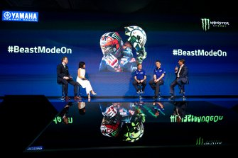 Lin Jarvis, Yamaha Factory Racing Managing Director, Kouichi Tsuji, President of Yamaha Motor Racing, Mitch Covington, Monster Energy Vice President Sports Marketing