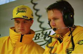Ральф Шумахер и его гоночный инженер Сэм Майкл
