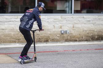 Daniel Ricciardo, Red Bull Racing on a scooter