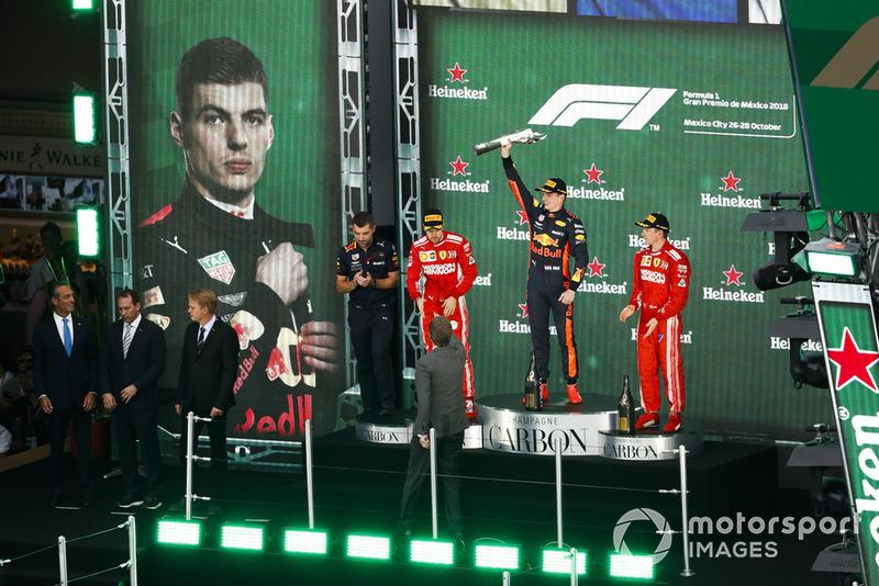 GP de México: 1º Verstappen, 2º Vettel, 3º Raikkonen