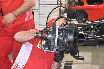 Vue détaillée d'une roue de Ferrari SF71H