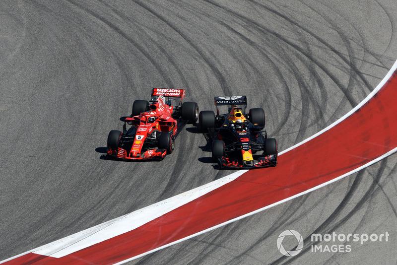 Себастьян Феттель, Ferrari SF71H, Даніель Ріккардо, Red Bull Racing RB14