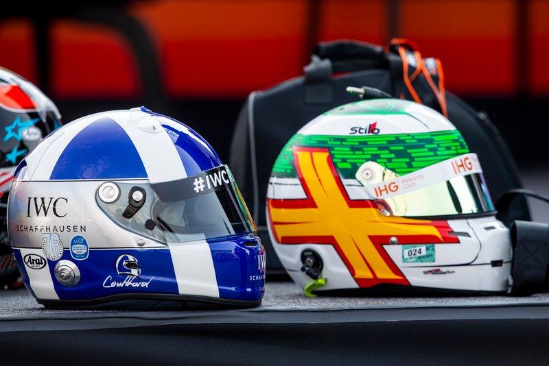 Cascos de David Coulthard y Andy Priaulx