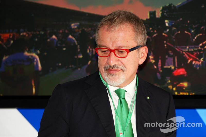 Roberto Maroni, Presidente della Regione Lombardia, all'annuncio al circuito di Monza