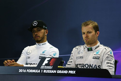 Press conference: winner Nico Rosberg, Mercedes AMG F1 Team, second place Lewis Hamilton, Mercedes A