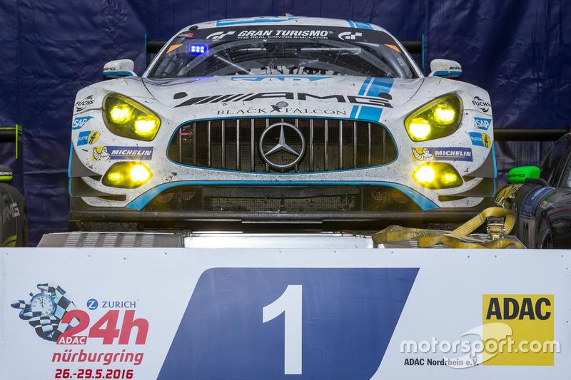 1° posto #4 AMG-Team Black Falcon, Mercedes-AMG GT3: Bernd Schneider, Maro Engel, Adam Christodoulou, Manuel Metzger