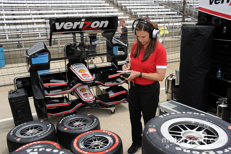 Cara Adams has risen the Firestone/Bridgestone ranks to become director of race tire engineering and production.