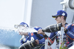 Podio: il terzo classificato Maverick Viñales, Yamaha Factory Racing