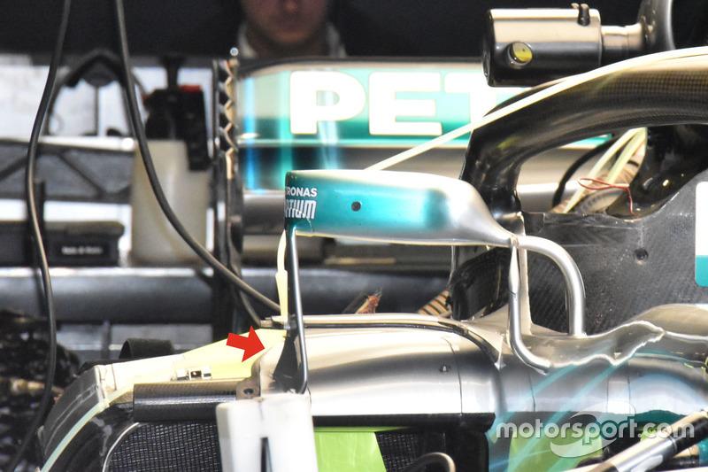 Mercedes AMG F1 W09 montaje espejo