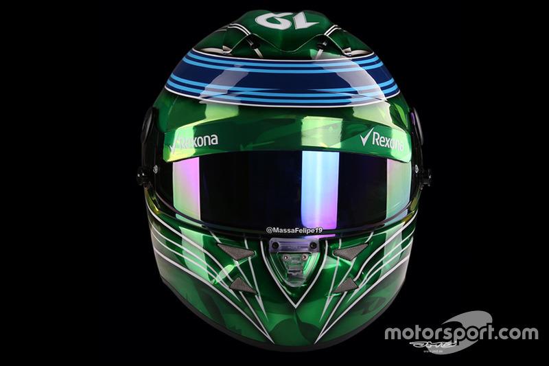 Capacete de Felipe Massa para o GP de Abu Dhabi