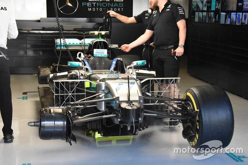 El coche de Valtteri Bottas, Mercedes AMG F1 W08
