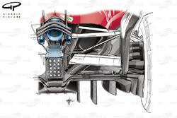 Nuevo difusor del Ferrari SF70H en el GP de Abu Dhabi