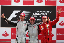 Podio: Rubens Barrichello, Brawn Grand Prix, Jenson Button, Brawn Grand Prix, Kimi Raikkonen, Ferrari