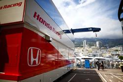 The Honda hospitality area in the paddock