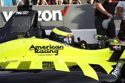 Sébastien Bourdais, Dale Coyne Racing with Vasser-Sullivan Honda pulls in after taking the pole