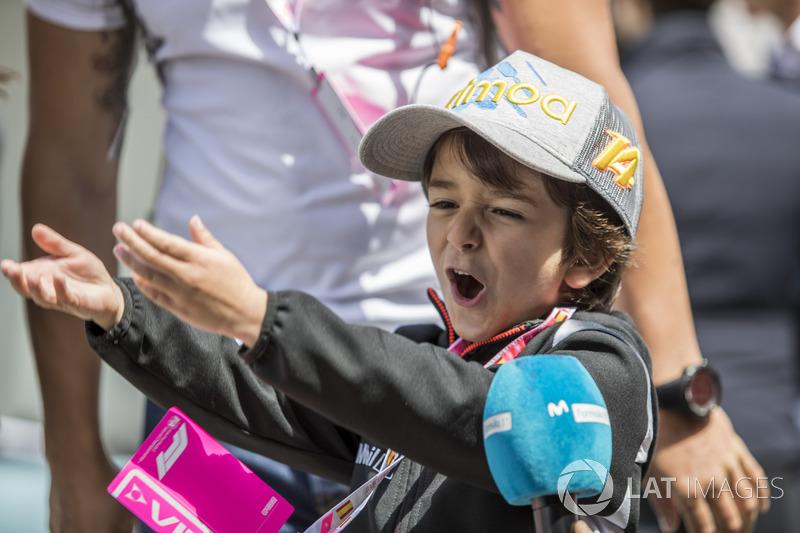 Joaquin, penggemar cilik Fernando Alonso, McLaren