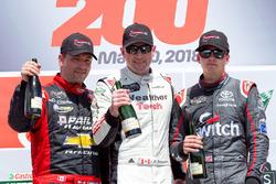 Podium: race winner Louis-Philippe Dumoulin, second place Marc-Antoine Camirand, third place Noah Gragson