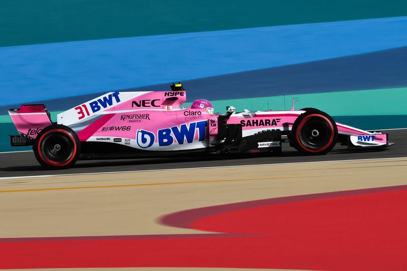 De Force India VJM11 zonder halo