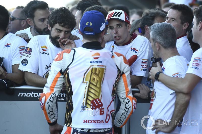 Чемпіон світу MotoGP 2017 року Марк Маркес, Repsol Honda Team, Алекс Маркес, Marc VDS