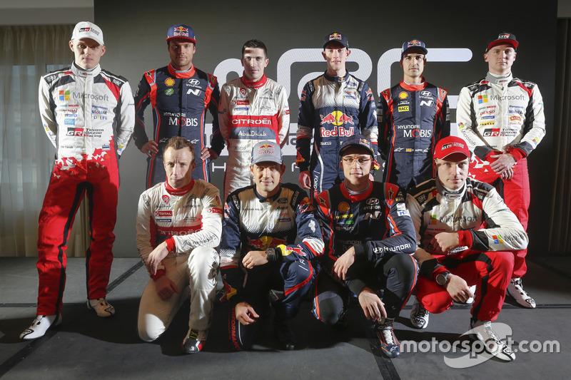 2018 WRC pilotları grup fotoğrafı