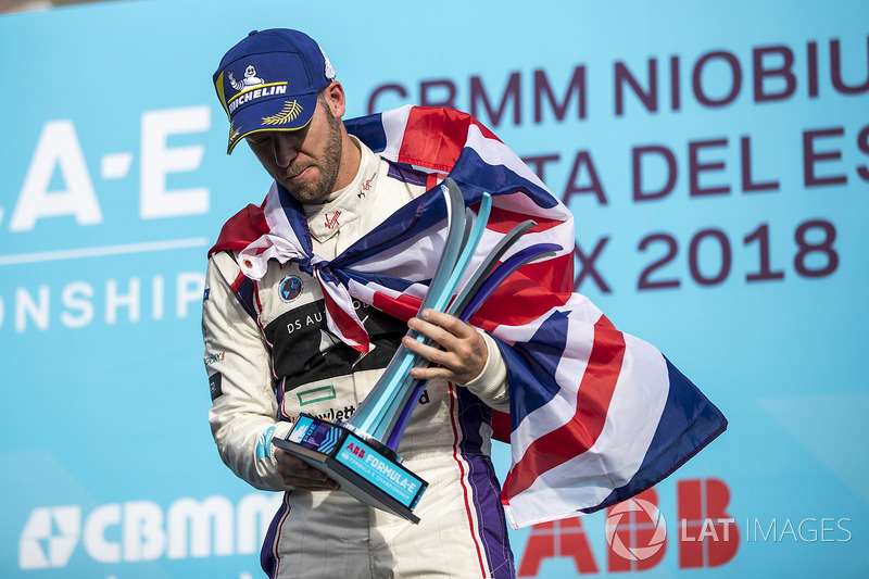 Sam Bird, DS Virgin Racing, sul podio