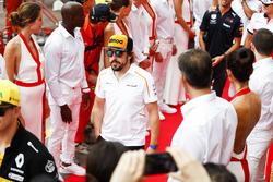 Fernando Alonso, McLaren, op de parade