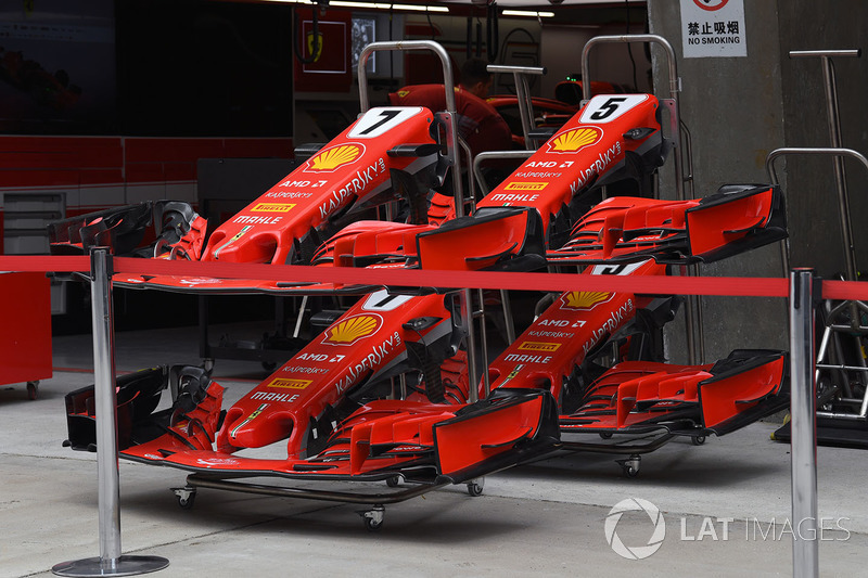 Ferrari SF71H : nez et ailerons avant