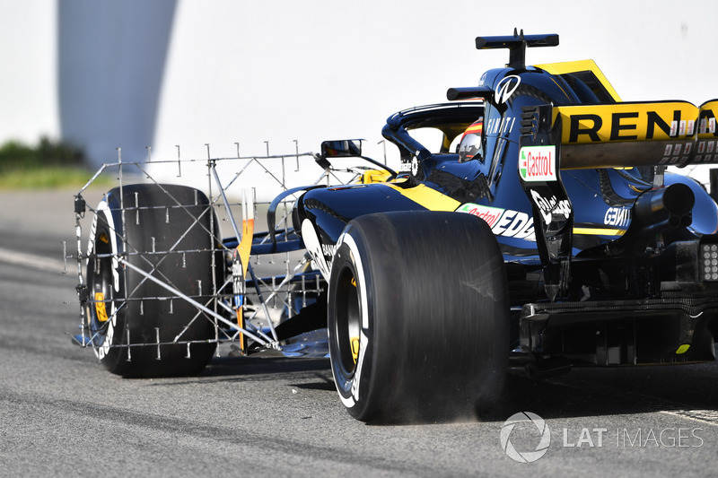 Carlos Sainz Jr., Renault Sport F1 Team R.S. 18 aero sensörü