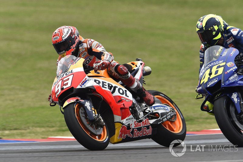 Accidente de Marc Márquez, Repsol Honda Team y Valentino Rossi, Yamaha Factory Racing