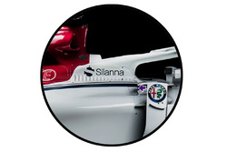 Sauber C37 side cooling inlet detail