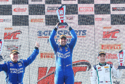 GT podium: winner Ryan Eversley, RealTime Racing, second place Peter Cunningham, RealTime Racing, third place Adderly Fong, Bentley Team Absolute