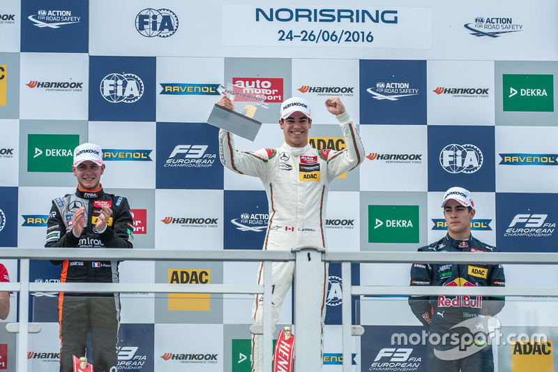 Podium: Lance Stroll, Prema Powerteam Dallara F312 - Mercedes-Benz