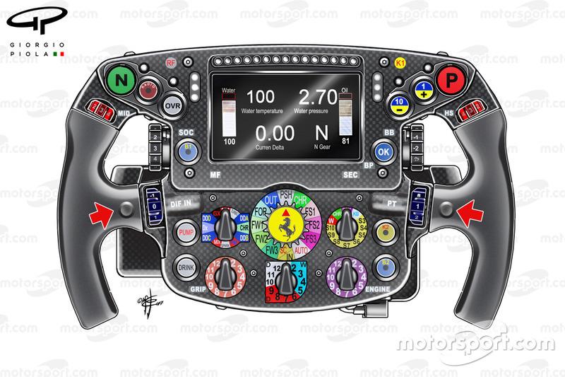 Sebastian Vettel steering wheel, Ferrari SF71H