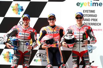 Ganador de la poleMarc Márquez, Repsol Honda Team, segundo lugar Andrea Dovizioso, Ducati Team, tercer lugar Jorge Lorenzo, Ducati Team