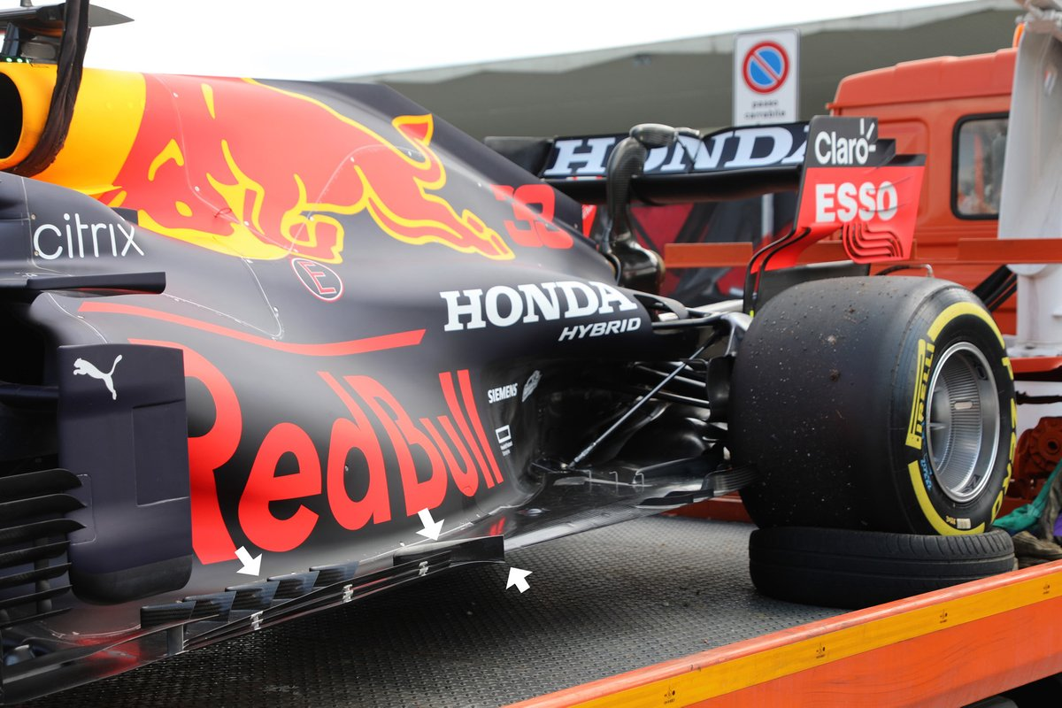 Red Bull Racing RB16B vloer detail