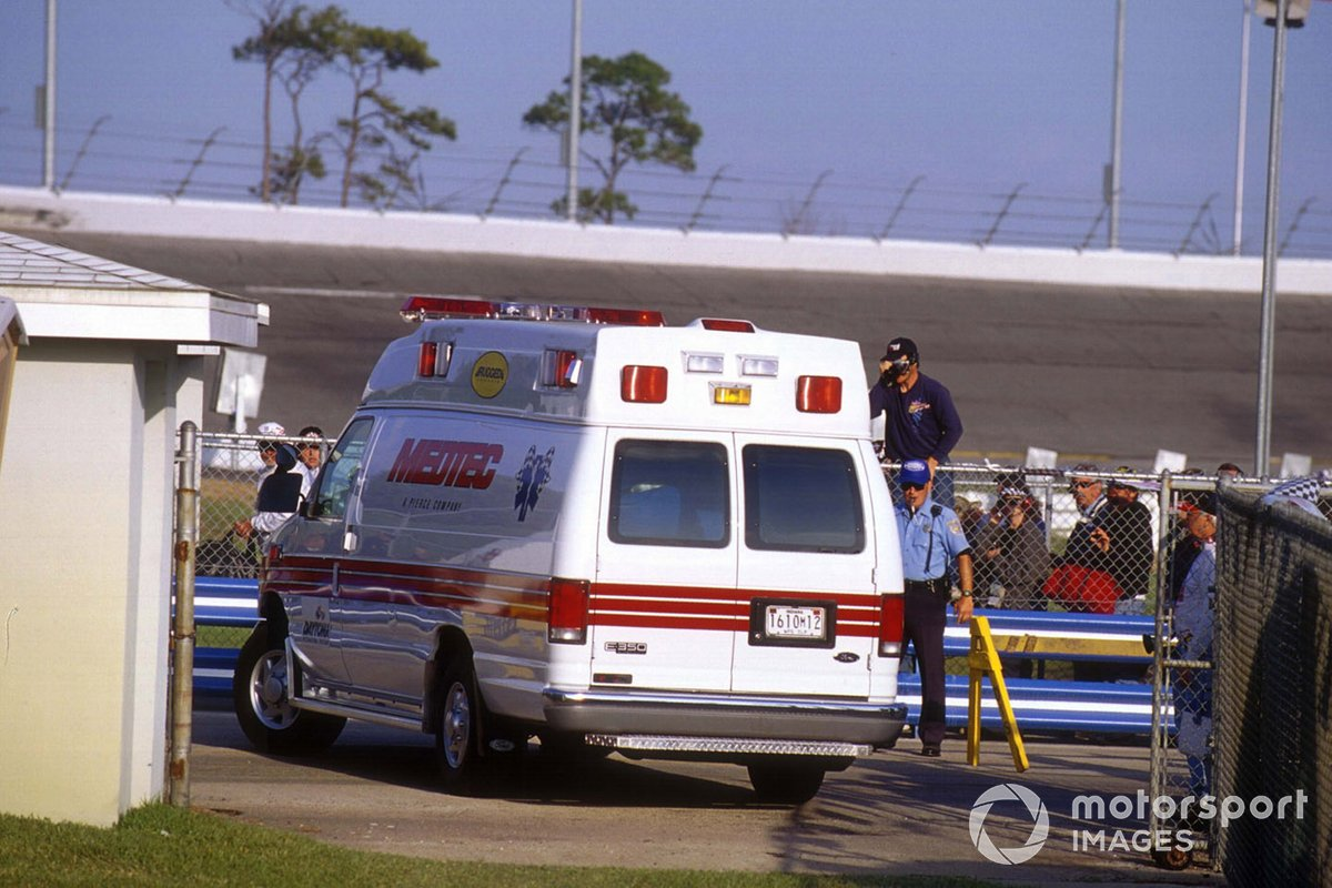 Dale Earnhardt ambulance after his crash