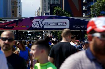 Fans at F1 Miami Festival