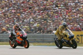 Colin Edwards, Yamaha Factory Racing; Nicky Hayden, Repsol Honda Team