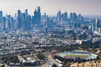 Melbourne City behind the circuit