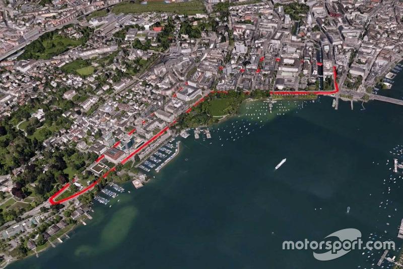 Formel-E-Strecke in Zürich
